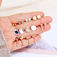 Fashion diamond earrings stud For Women Wholesale N98303
