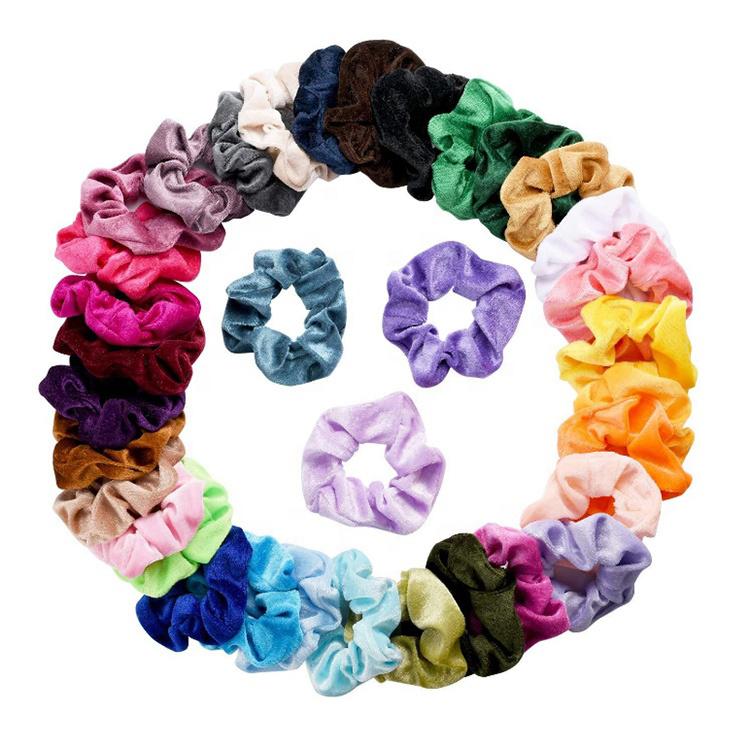 शरद ऋतु और सर्दियों नई बाल संबंधों के लिए लोचदार बाल बैंड फूल मखमल बाल Scrunchies महिलाओं