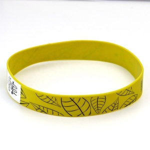"Manufacturer Bulk Cheap Price Printed Custom Logo Colourful 1"" Wide Stretch Elastic Silicon Rubber Band"