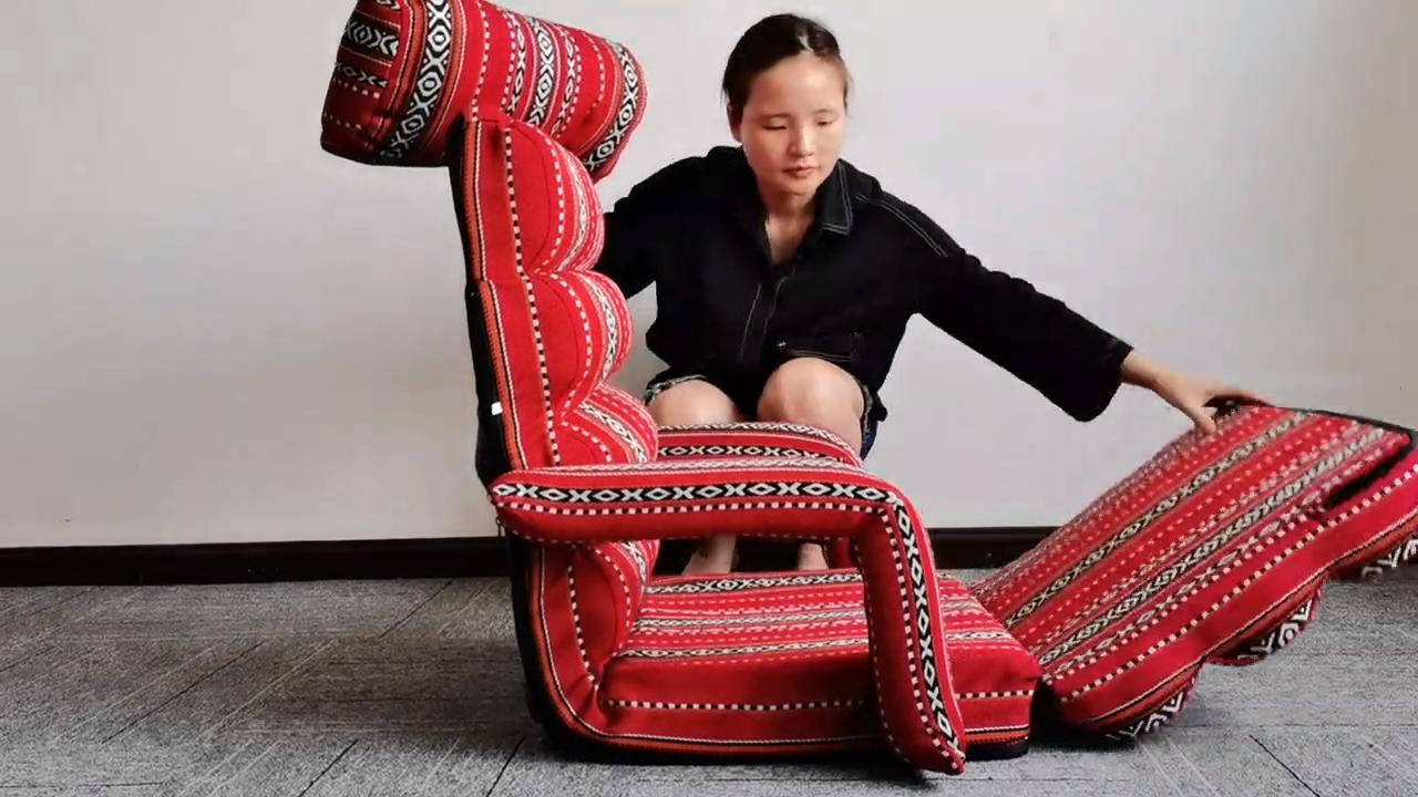 ใหม่ซาอุดิ/Saduผ้าพับการเล่นเกมการทำสมาธิอาหรับชั้นที่นั่งเก้าอี้ที่มีการสนับสนุนหลัง