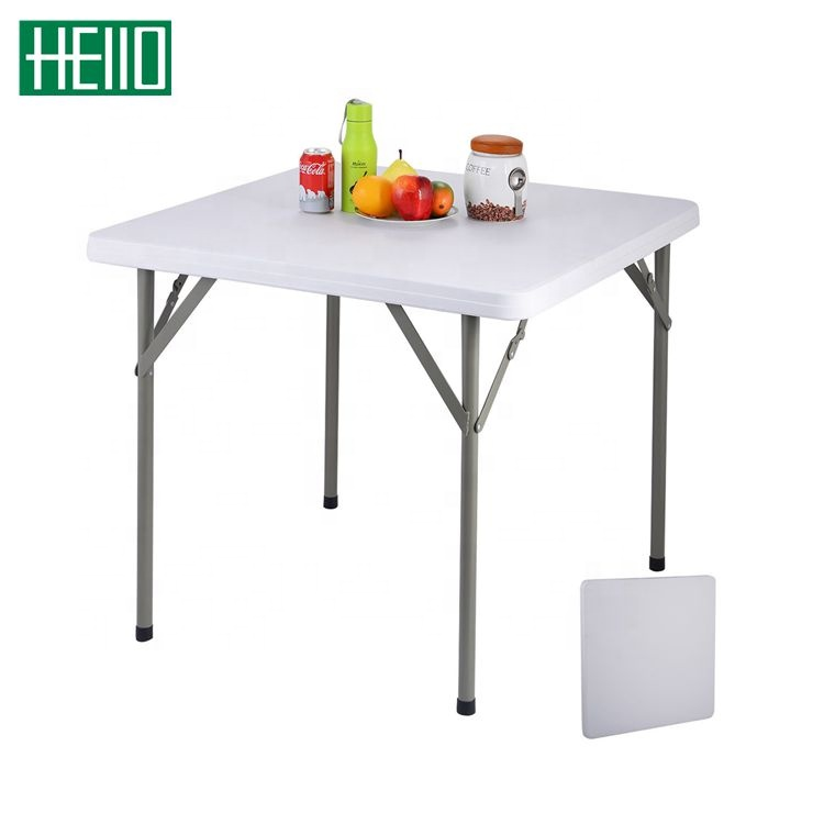 86cm plastic blow molded HDPE <strong>square</strong> <strong>dining</strong> <strong>table</strong> easy carry folding <strong>tables</strong> restaurant <strong>square</strong>