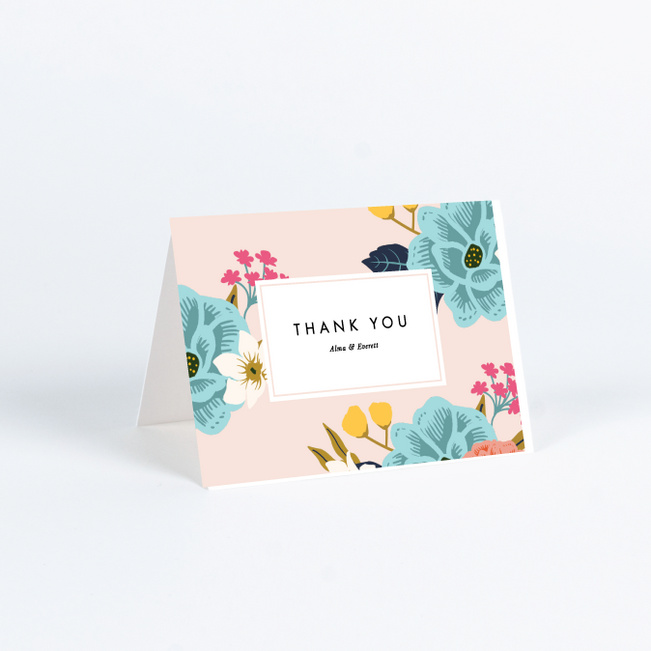 Custom holiday greeting cards CMYK full color printed Thank you cards