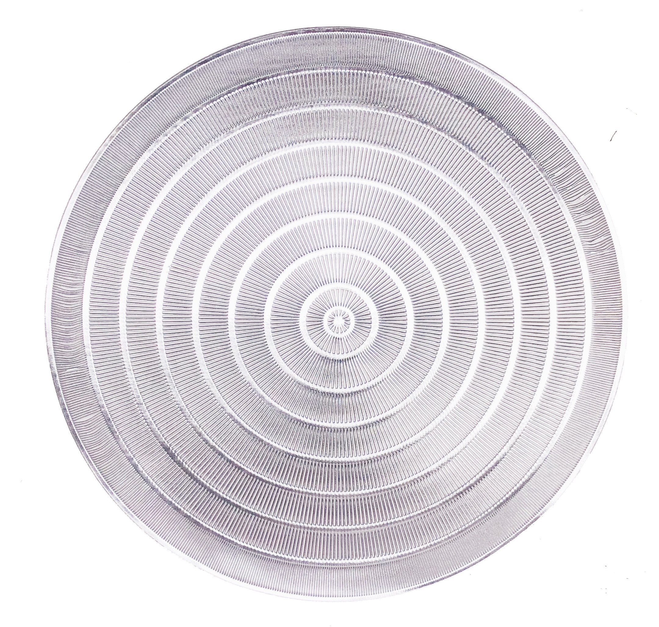 Tabletex Hot Sale PVC Placemats Set of 6 Washable Placemats Hollow Round Table mats for Dining Table Silver Gold For Christmas