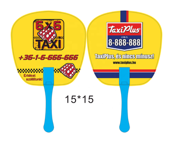promotional logo printing pp plastic hand fan