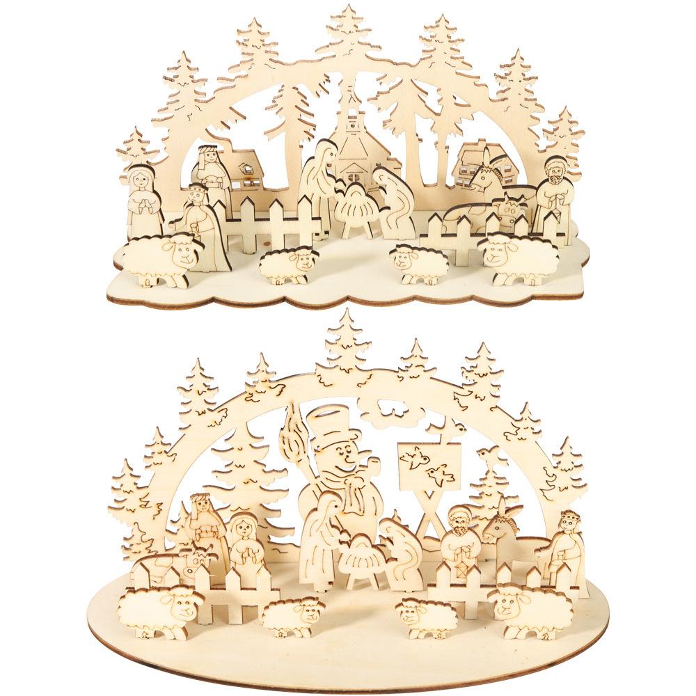 Großhandel Basteln Aus Holz Weihnachten Kaufen Sie Die