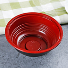 Plastic rice salad soup food container wholesale disposable 550ml red black bowl with lid