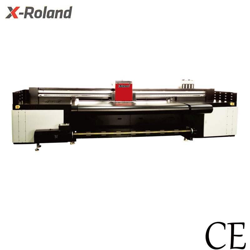 X-Roland 2200A Hybrid belt uv printer  printing CMYK  (with3 pieces I3200 heads)