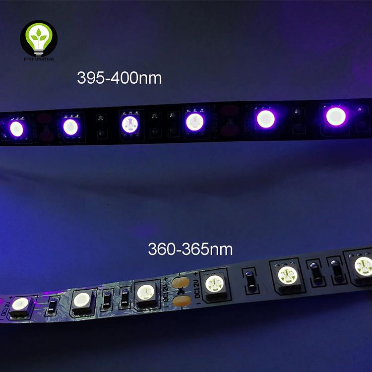 UV LED strip Purple Flexible Ultraviolet Backlight 395nm Hot Sale DC12V/DC24V /DC5V