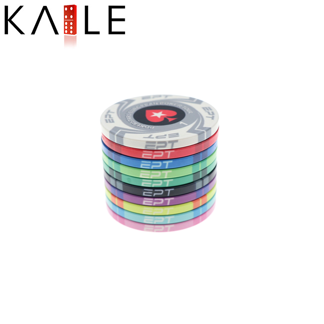 EPT poker chips in ceramica chip 10g