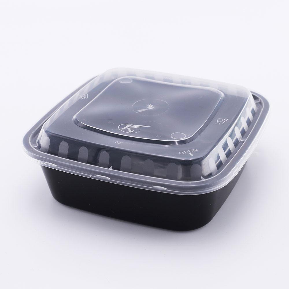 Personalizado pacote de caixa de embalagem de plástico quadrado recipiente de alimento para o restaurante de sushi