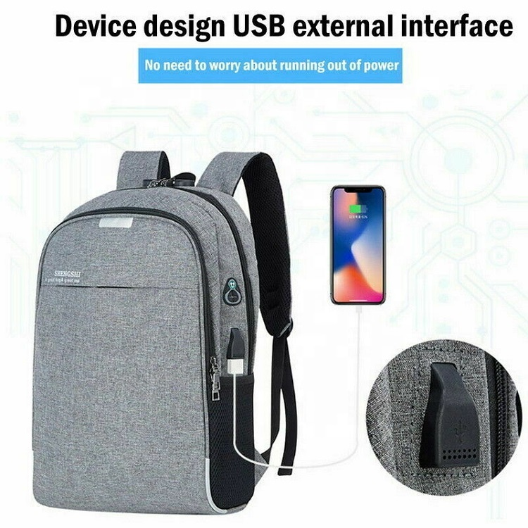 Fashion Smart Anti Theft Waterproof USB Charging Port Backpacks Custom Men Womens Laptop Backpack with Logo for School Girls