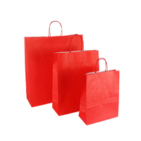China manufacturer custom standard sizes A3 A4 A5 personalised eco portable new heavy duty red gift paper bag with paperboard