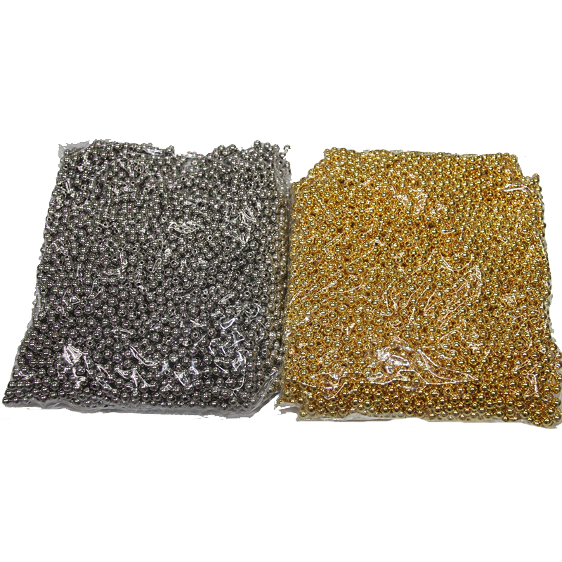 Hight Quality Plastic Beads Half Round Plated CCB 8mm 10mm 12mm 14mm Flatback Plastic Beads