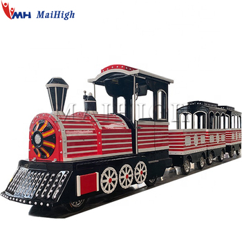 Electric amusement park rides trackless road train