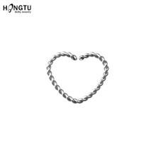 1 шт. пирсинг в форме сердца обруч BCR поворотное кольцо для носа ноздри перегородки кольцо спиральный для хряща поддельные пирсинг ювелирные...(China)