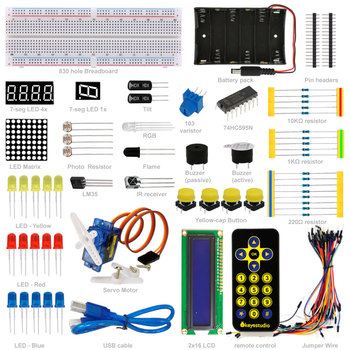 Electronic Components Basic Project Starter Kit for Arduino diy Learning Set