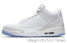 Мужская баскетбольная обувь Nike Air Jordan 3 в стиле ретро; Кроссовки с высоким берцем; Женская дышащая Спортивная обувь()
