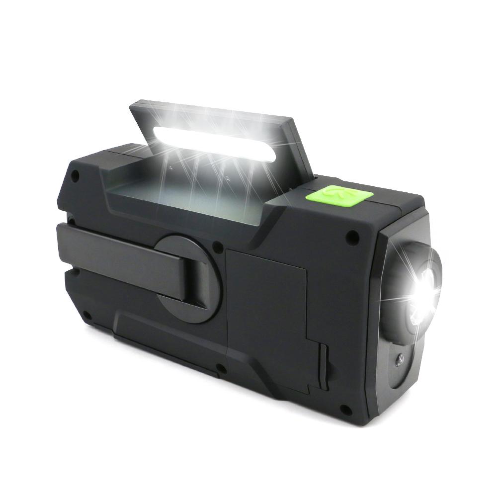 MD-090 portable flashlight usb radio hand crank solar survival kit radio with torch light