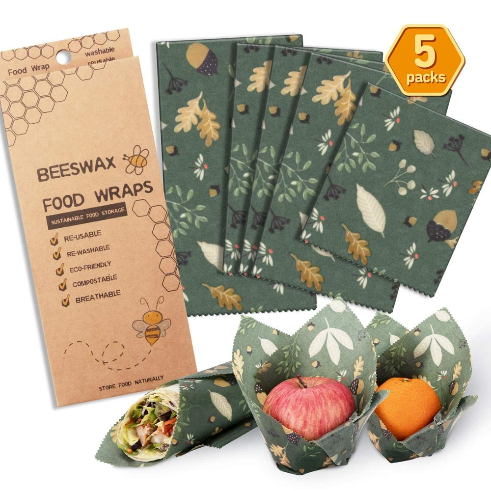2019 amazon hot zero waste biodegradable food storage beeswax wrap for covering food