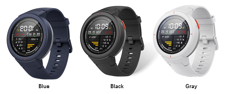 International Version Xiaomi Huami Amazfit Verge 1.3 Inch AMOLED Screen Heart Rate Monitor Built-in NFC 12 Sports Smart Watch