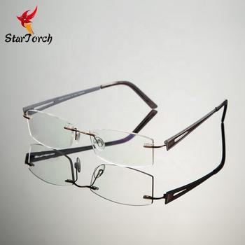 Ultra Light Eyeglass Frame Frameless Spectacles B Titanium Myopia Frames  Flat Mirror Optical Frames - Buy Wholesale Titanium Glasses,Titanium Ip
