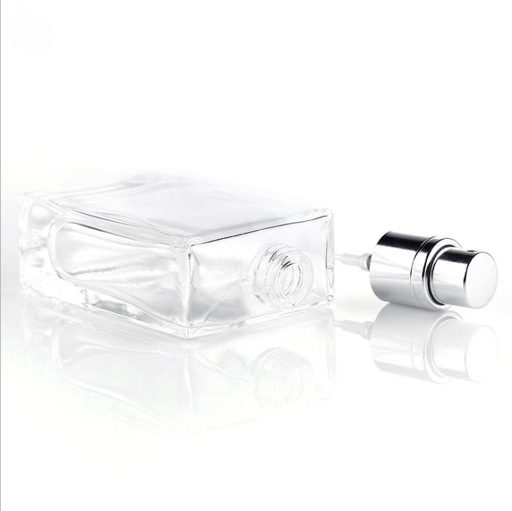 Wholesale 30 ml 50ml Clear Black China Empty Flacon Frosted Glass Perfume Bottle