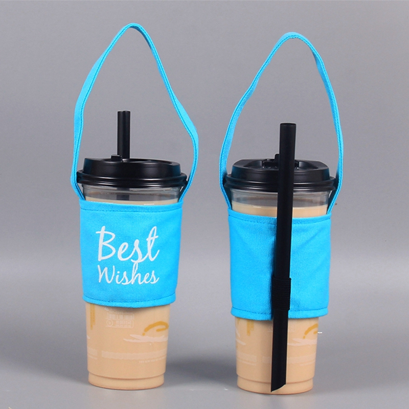 Eco Friendly Canvas กาแฟชาถ้วย Tote กระเป๋า