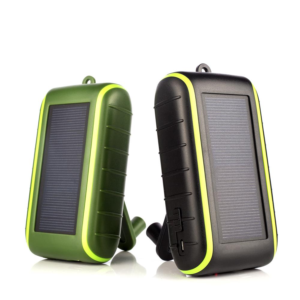 Neue Hand Kurbel Schnelle Aufladen Outdoor Notfall Tragbare Solar Power Bank 10000mah