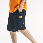 Summer trendy loose shorts men's cotton retro Hong Kong style patchwork cargo shorts