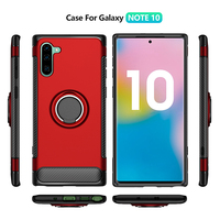 kickstand TPU + shell,phone case for iphone,ring bracket samsung note 10 phonefor mobile+ Pattern car phone case Wholesale