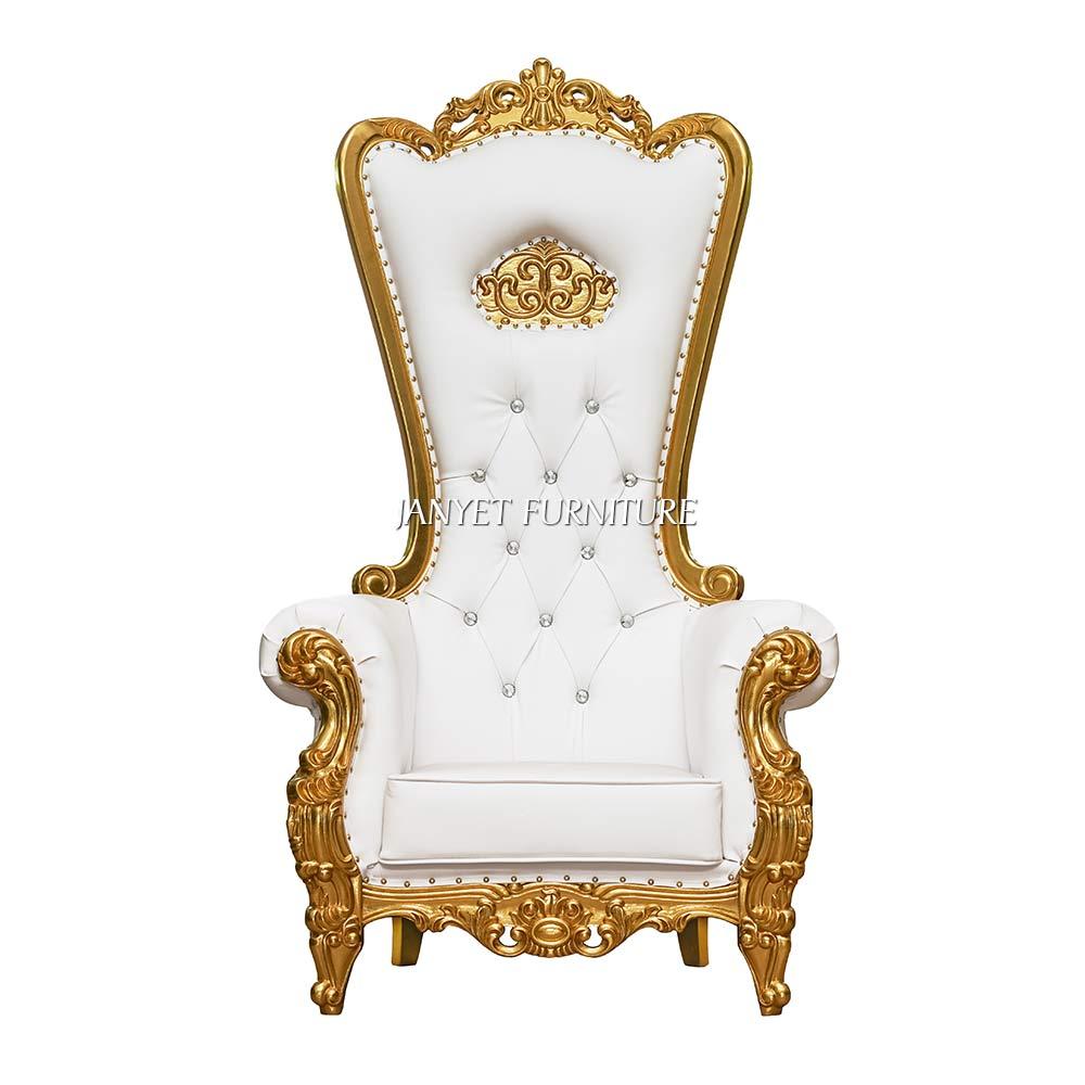 Популярные резные роскошные свадебные Queen трона кресла для свадьбы