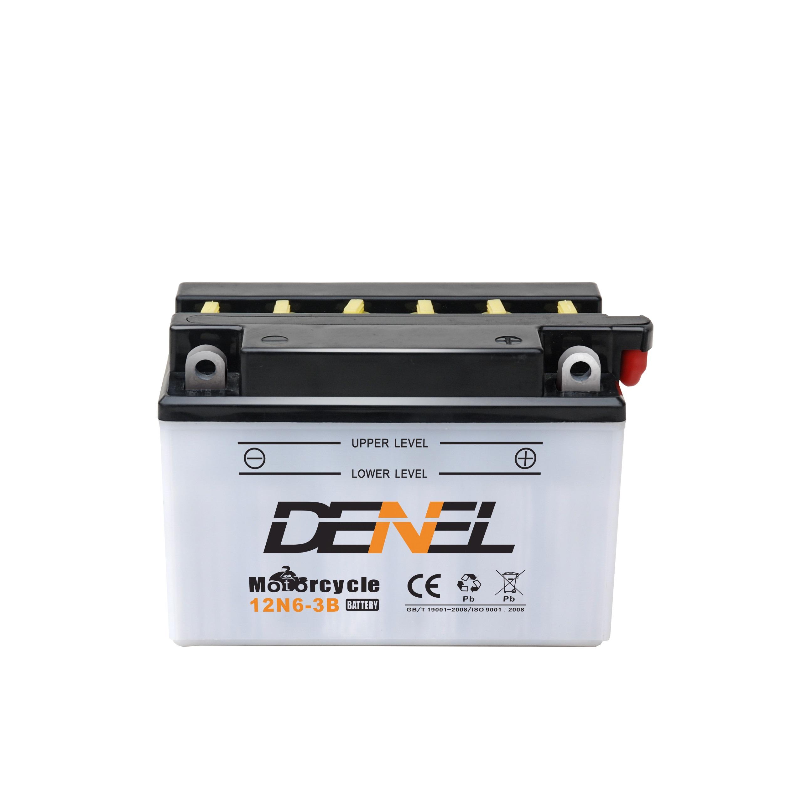 12N6-3B lead acid battery 12N6-3B motorcycle battery