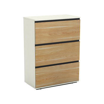 New design cheap lateral flat high quality factory made wood drawer file cabinet