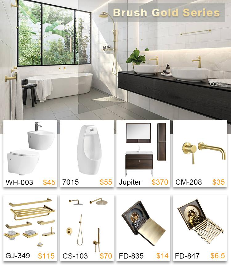YIDA ใหม่ Loft สไตล์การออกแบบห้องน้ำร่วมสมัย DRZ ทองเหลืองทองแดงสีดำ Matt สีสแควร์ฝน 3 way ชุดฝักบัวสำหรับโรงแรม