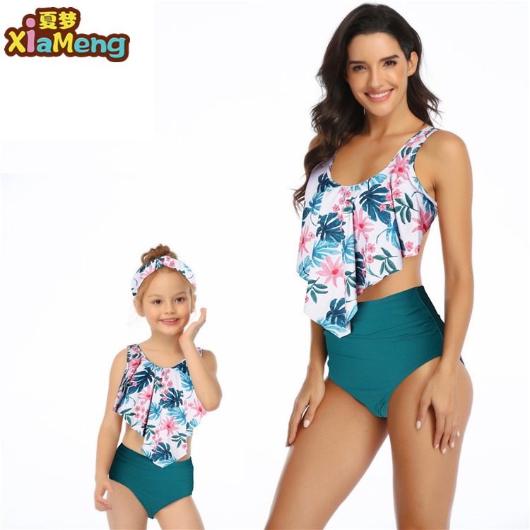 ML 2020 new style family swimwear mom and daughter bikini swimwear women sexy bikini