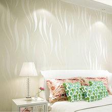 3D Трехмерная вода трава Лист обои спальня Нетканая ткань флокирование современный минималистский гостиная ТВ фон wa(Китай)