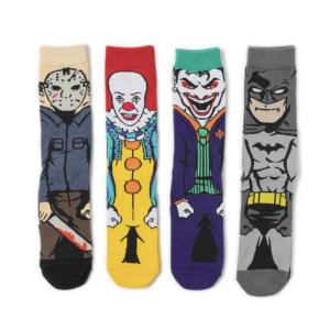 High quality cotton crew nightmare funny funky happy halloween socks men custom logo
