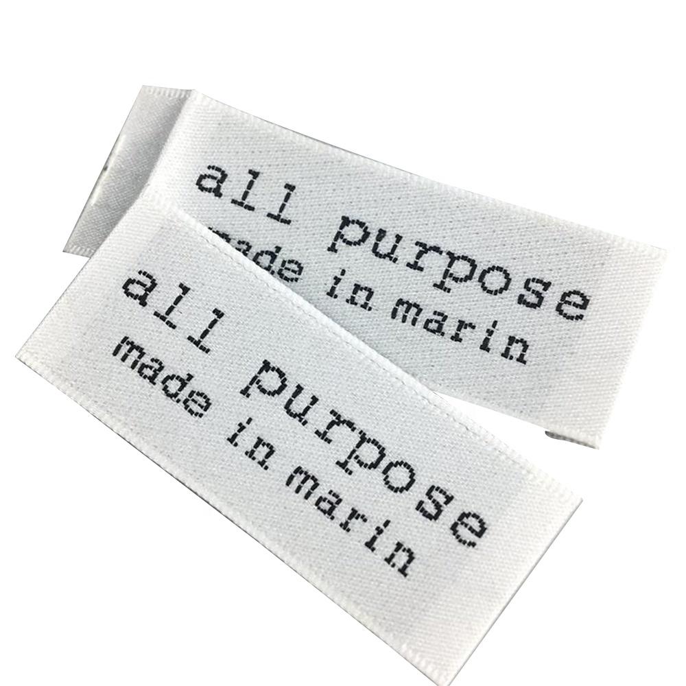 Großhandel custom OEM marke name kleidung label kleidung gewebtes etikett