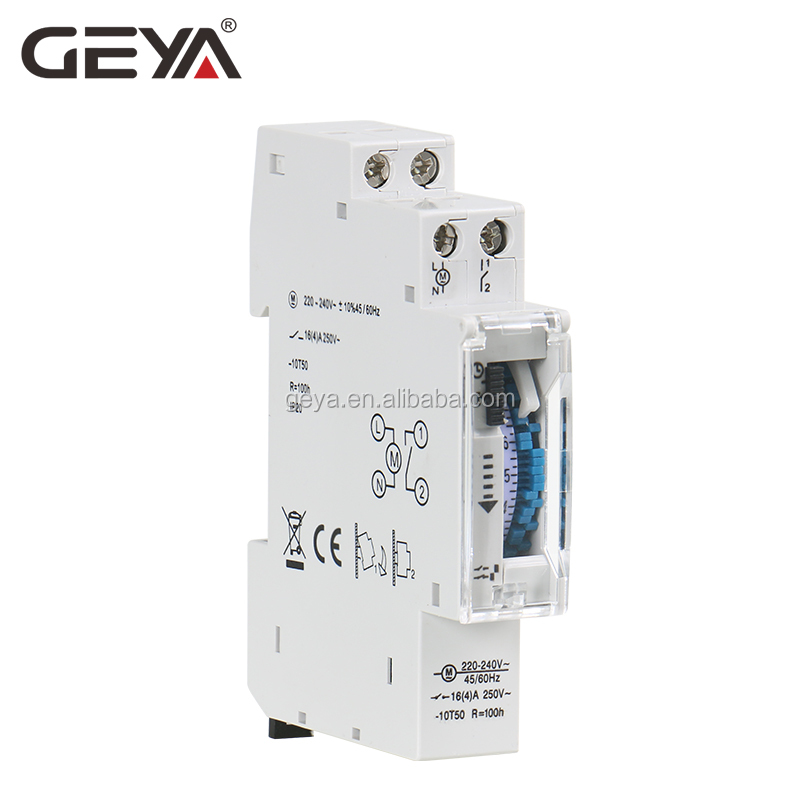 GEYA TB45 TB180 Din Rail 17.5mm width Mechanical Timer Switch 96 times on/off per Day Time Set Range 15 Mins Timer 110V 220V