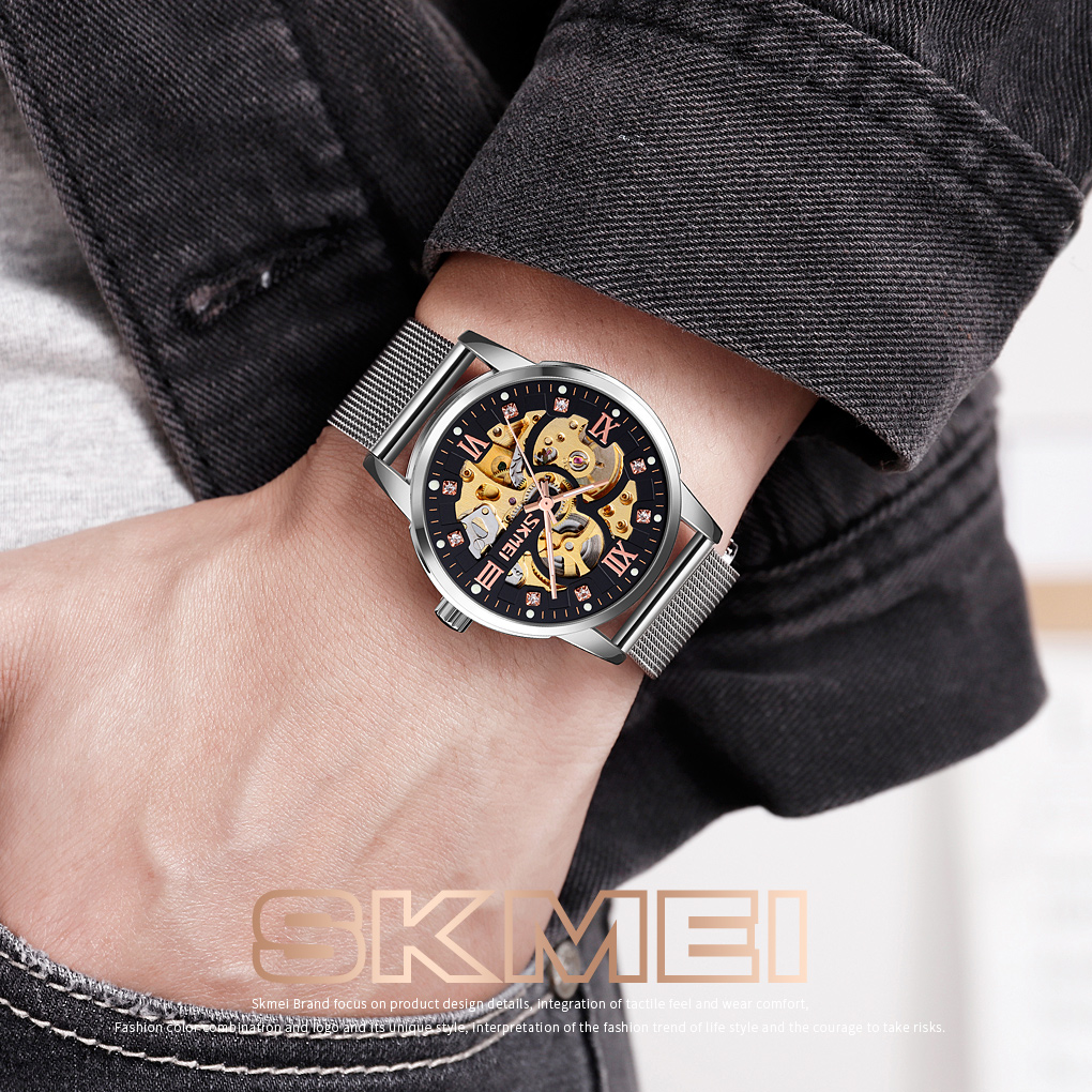 New skmei  9199  mechanical watch business watch  OEM