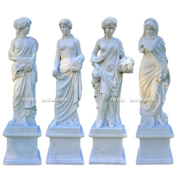 Hot Sale White Marble Four Season Statue For Garden