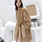 2019 New Fashion Long Stand Real Fur Coat Women Winter Real Fox Fur Jacket