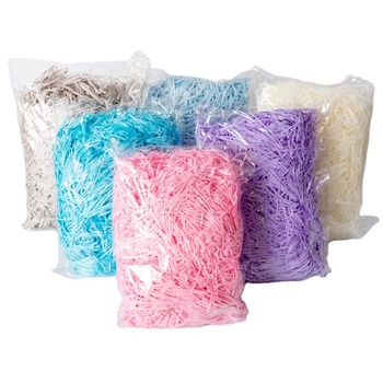 31 Colors High Quality Decorative White Shredded Paper Filler Raffia Recycle Shredded Paper For Gift Box Filler