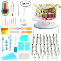 Cake Decorating Tools Kit Turntable Pastry Nozzles For Cream Confectionery Bags Icing Piping Nozzles Tips