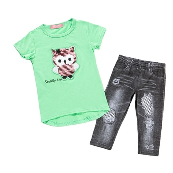 Best Price Of High Quality Summer Matching Girls Sets Girls Boutique Clothing Sets