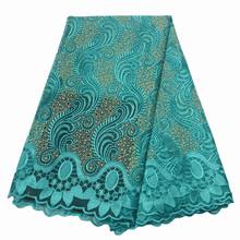 Кружевная ткань с вышивкой винного цвета, африканская фатиновая кружевная ткань высокого качества, французская сетчатая кружевная ткань с ...(Китай)