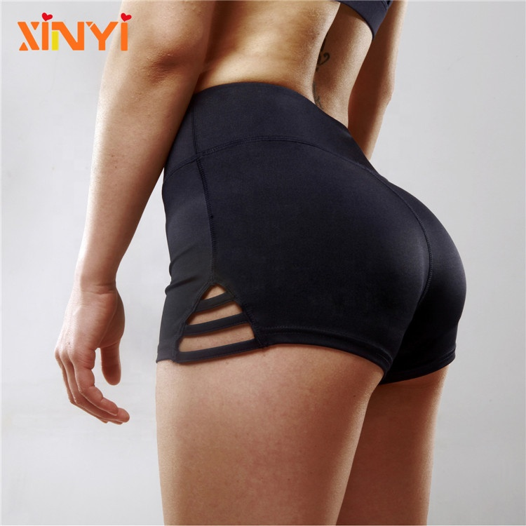 Hohe Taille Sexy Fitness Butt Lift Gym Booty Yoga Shorts Frauen Workout Shorts