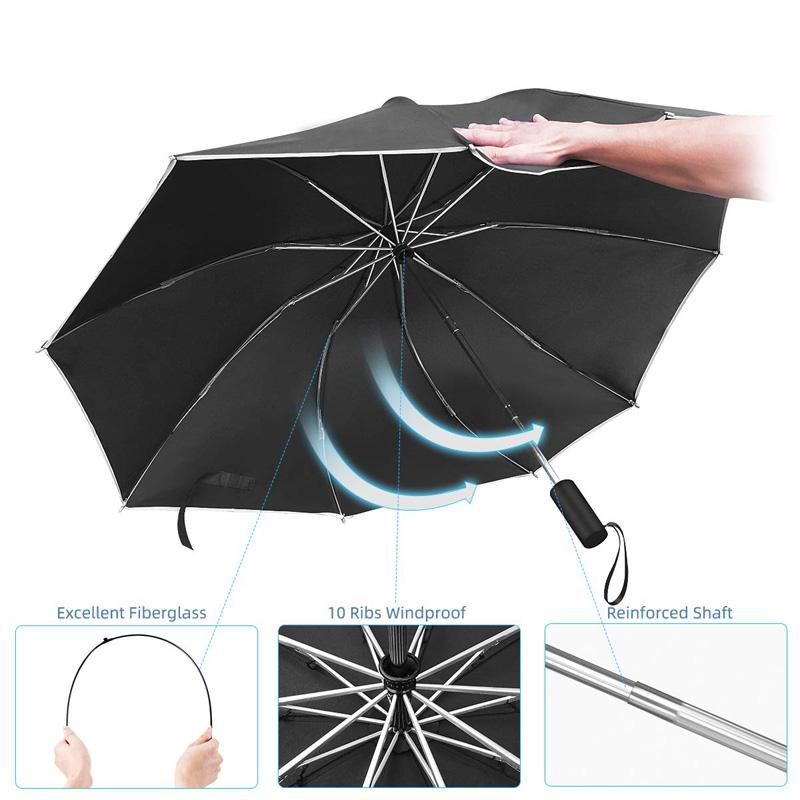 Shenzhen Ke Atas Payung Parasol Automatic Reverse Payung dengan Cetakan Logo