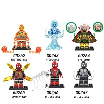 Spider-Man Far From Home Super heroes Avengerse Compatible legoe mini block figures building brick Model kid Toy gift