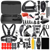 Hot Selling Wholesale Factory Price action Camera Accessories set 50 in 1 kit for gopro xiaomi yi 4k action camera